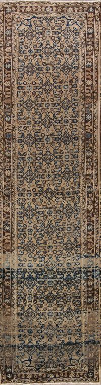 All-Over 4x13 Malayer Hamedan Persian Rug Runner