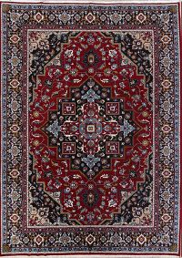 Floral Red Heriz Persian Area Rug Wool 10x13