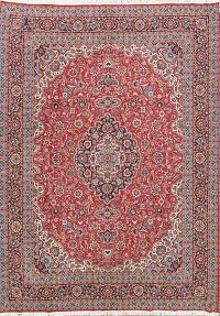 Floral Red Kashan Persian Area Rug 10x13