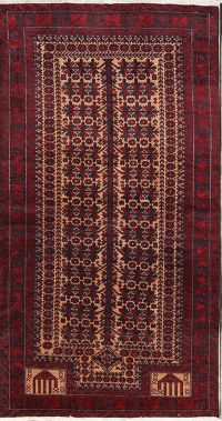 All-Over Geometric 3x5 Balouch Persian Area Rug