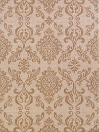 Outdoor/Indoor All-Over Floral Machine Made Belgium Oriental Area Rug