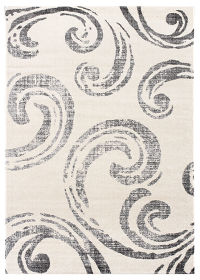 All-Over Paisley Machine Made Belgian Oriental Area Rug Grey