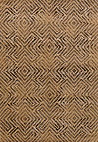 Geometric Machine Made Belgium Oriental Area Rug Brown