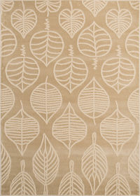 Floral Machine Made Belgian Oriental Area Rug Beige