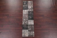 Floral Machine Made Belgian Oriental Area Rug Grey
