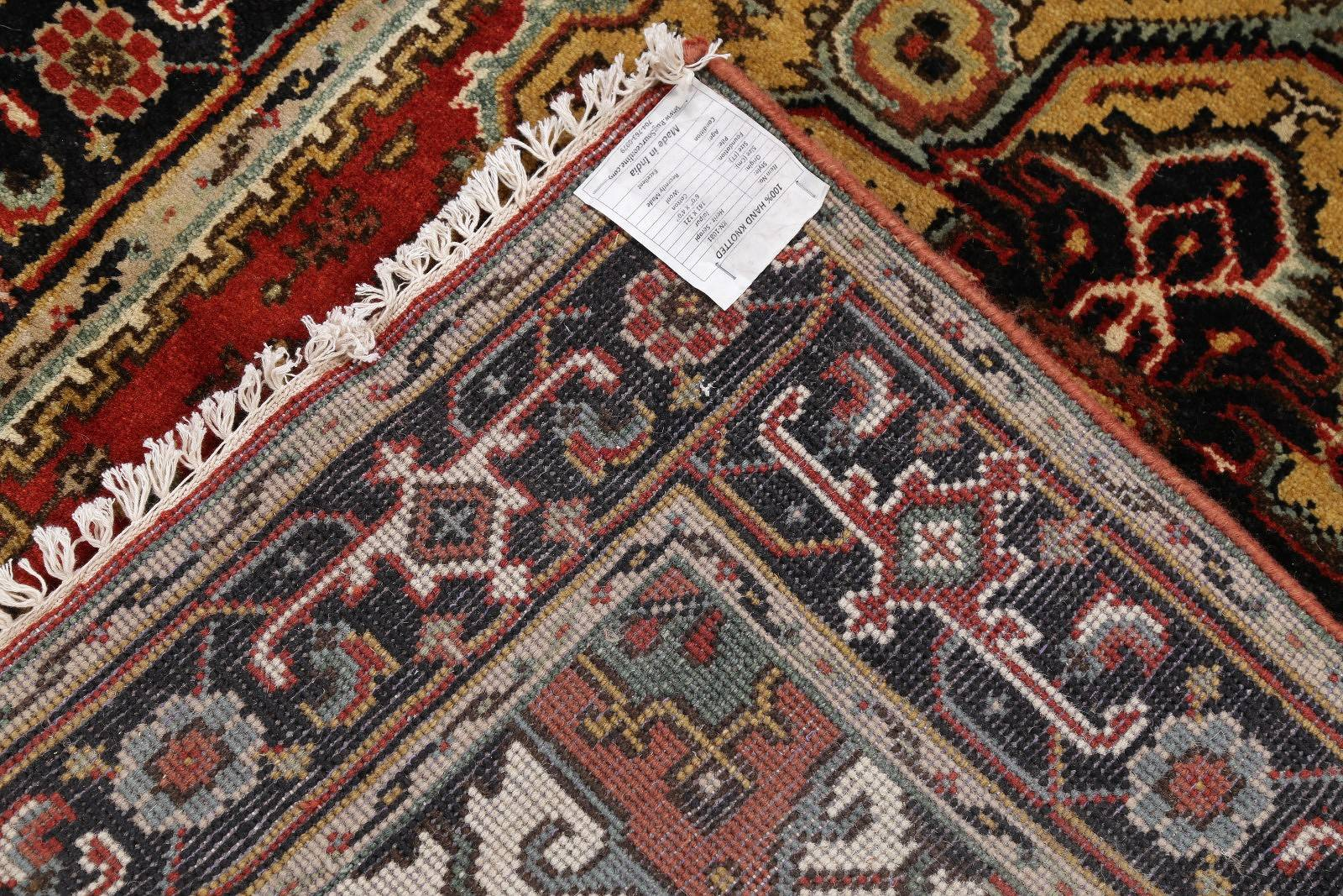 Geometric Heriz Indian Oriental Area Rug 4x6