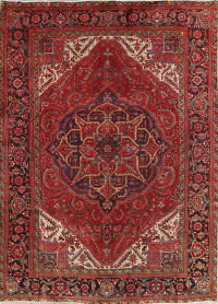Antique Geometric Heriz Persian Area Rug 8x11