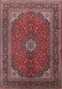 Traditional Floral Kashan Persian Area Rug 10x14