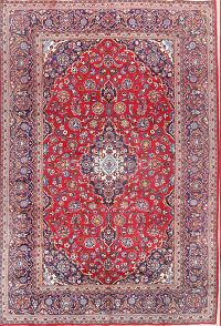 Floral Kashan Persian Area Rug 8x11