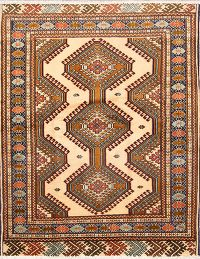 Geometric Turkoman Persian Area Rug 4x6