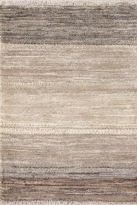 Striped Gabbeh Shiraz Zolanvari Persian Modern Rug 3x4