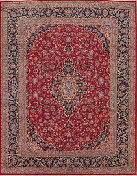Vegetable Dye Traditional Floral Mashad Persian Area Rug 10x13