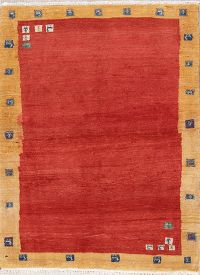 Solid Modern Wool Gabbeh Shiraz Persian Area Rug 4x5