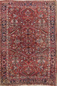 Antique Geometric Heriz Persian Area Rug 7x11
