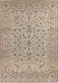 Floral Kashan Persian Area Rug 11x15