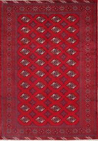 Geometric Turkoman Persian Area Rug 7x9
