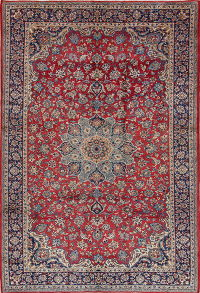Red Floral Najafabad Persian Area Rug 8x11