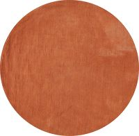 Contemporary Tufted Indian Oriental Round Rug 6x6