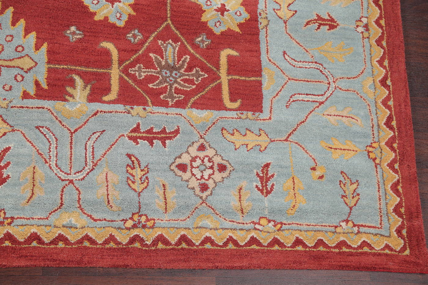 Hand-Tufted Oushak Oriental Square Rug 10x10