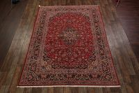 Traditional Floral Kashan Persian Area Rug 9x12