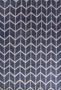 Blue Geometric Moroccan Trellis Indian Oriental Area Rug