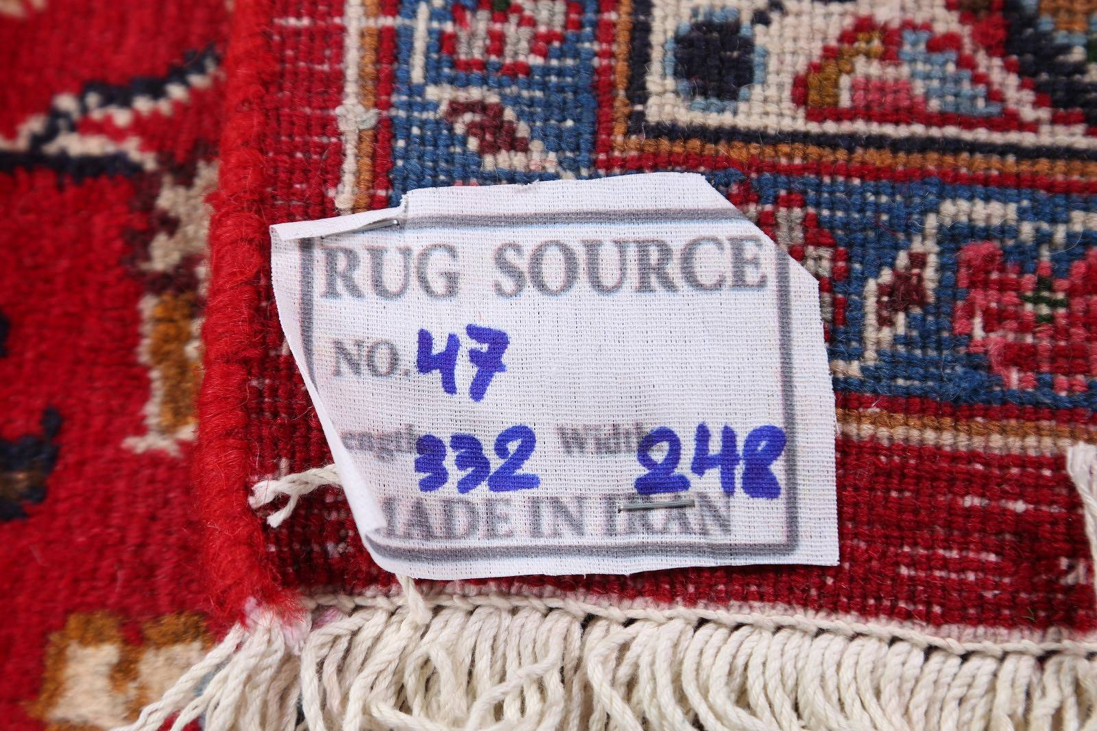 Traditional Floral Mashad Persian Area Rug 8x11