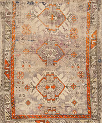 Geometric Antique Moraccan Oriental Area Rug 3x4