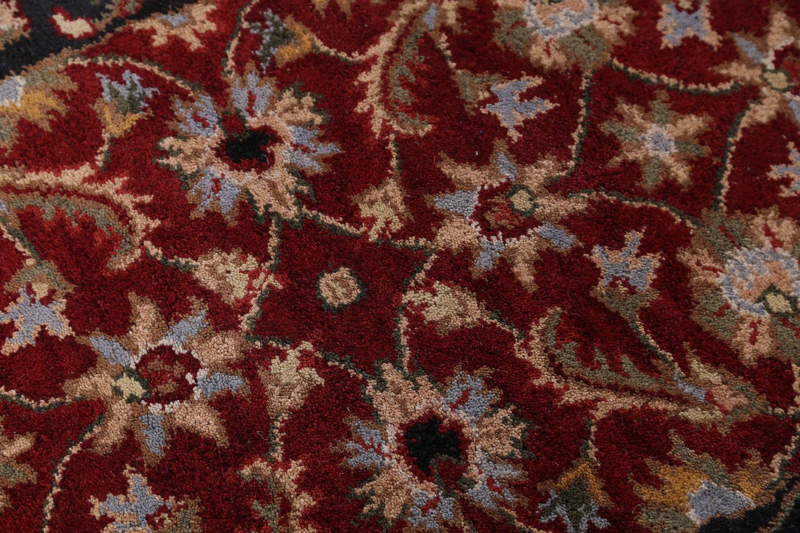 Red Floral Agra Style Indian Oriental Wool Rug 3x5