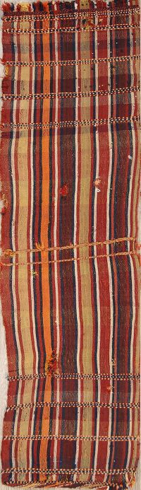 Antique Stripe Kilim Persian Runner Rug 2x7