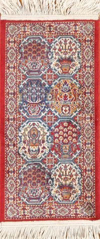 Geometric Kazak Machine Made Oriental Rug 1x2