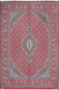 Red Geometric Bidjar Persian Area Rug 10x13