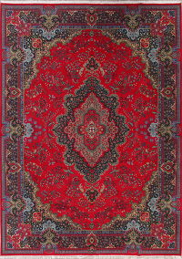 Red Traditional Floral Kerman Persian Area Rug 10x13