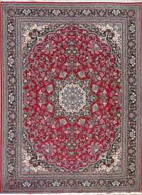 Red Floral Kashan Persian Area Rug 10x13