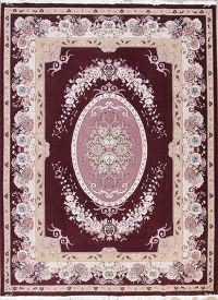 Red Floral Tabriz Persian Area Rug 10x13