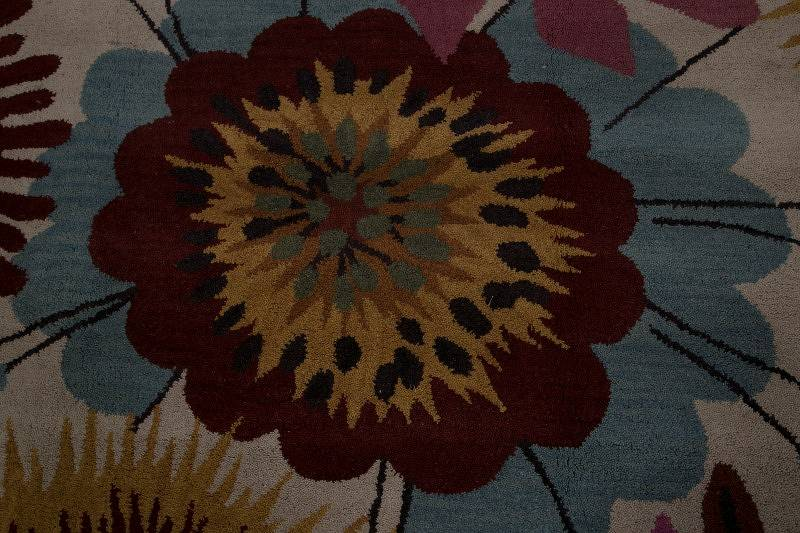 Hand-Tufted Floral Oushak Oriental Area Rug 10x13