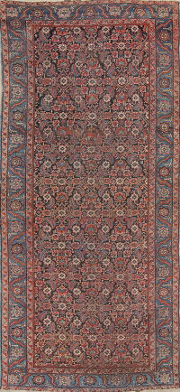 Antique Floral Heriz Persian Runner Rug 6x14