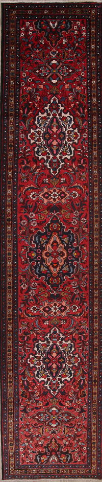 Palace Sized Floral Heriz Persian Runner Rug 4x17