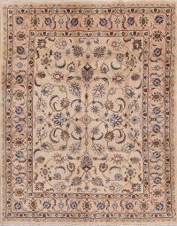 Floral Kashan Persian Area Rug 6x9