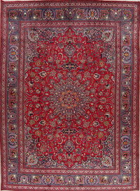 Red Floral Kashmar Persian Area Rug 10x13