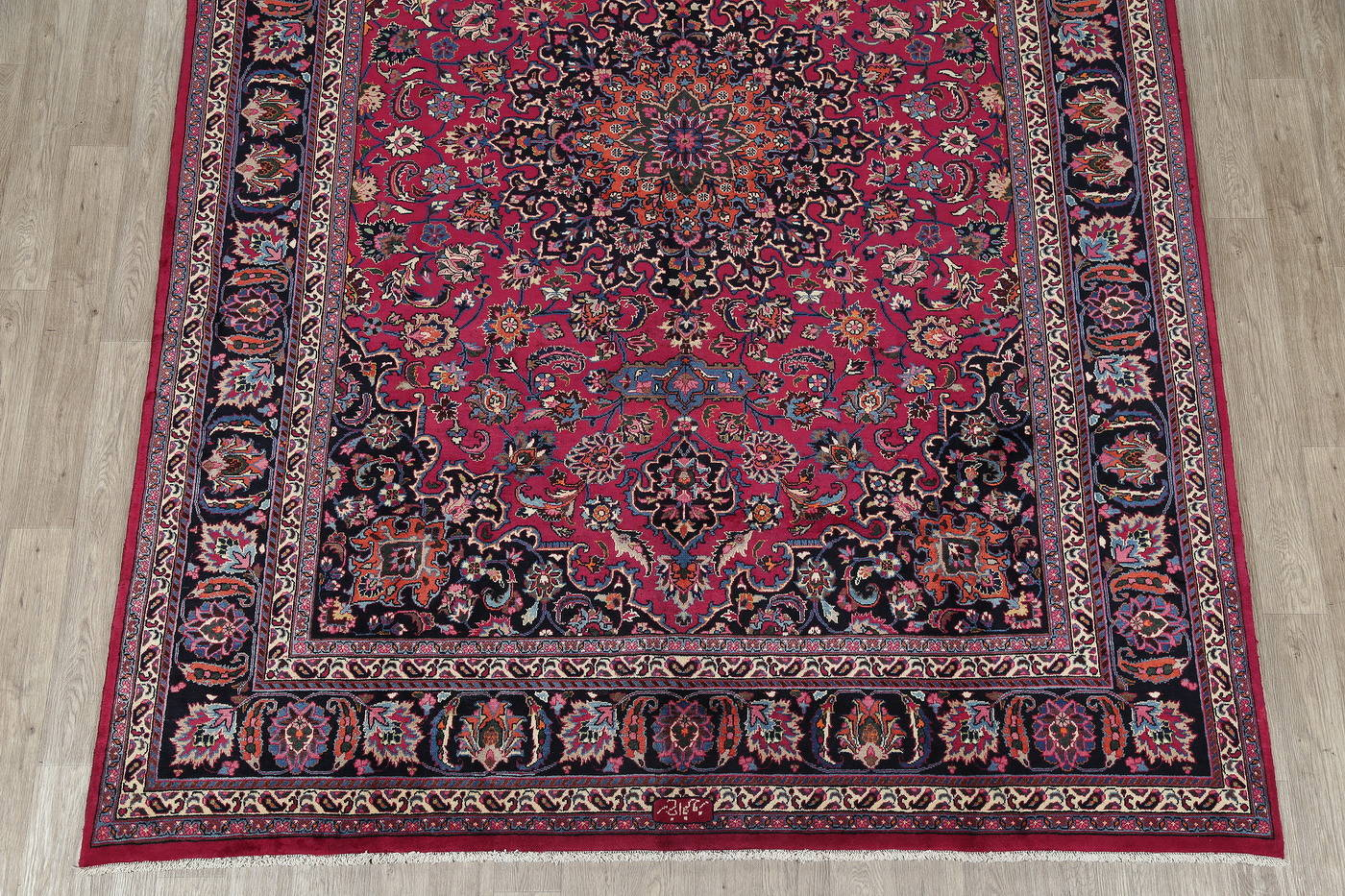 Red Floral Mashad Persian Area Rug 9x12