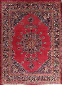 Pre-1900 Antique Doroksh Mood Persian Area Rug 10x13