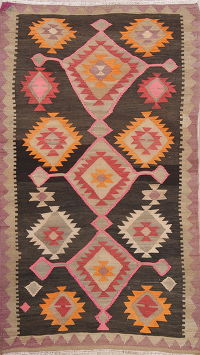 Geometric Kilim Shiraz Persian Area Rug 4x7