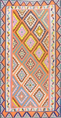 Geometric Kilim Shiraz Persian Area Rug 4x8