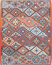 Geometric Kilim Shiraz Persian Area Rug 5x6