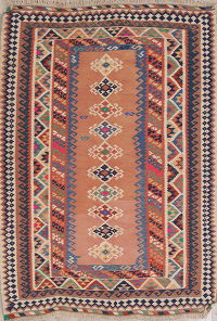 Geometric Kilim Shiraz Persian Area Rug 5x7