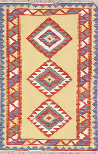 Geometric Kilim Shiraz Persian Wool Rug 3x5