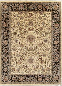 Hand-Spun Wool Floral Agra Oriental Area Rug 9x12