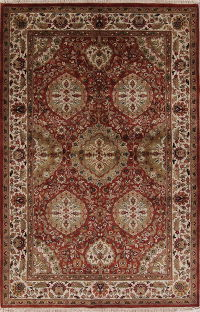 Floral Geometric Agra Indian Oriental Area Rug 5x8