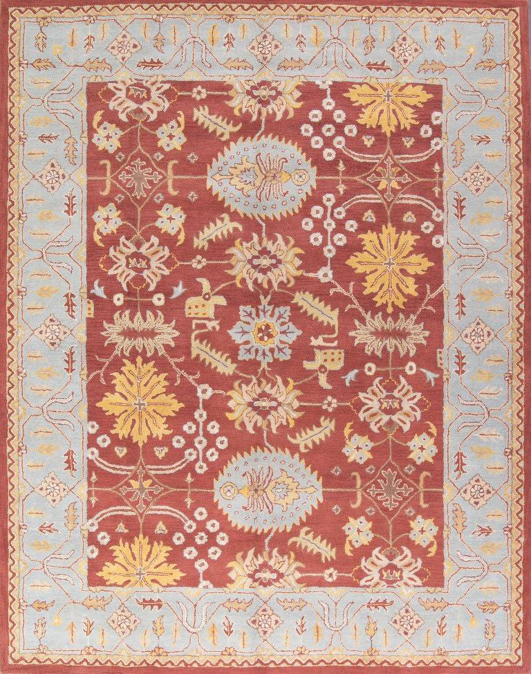 Rust Hand-Tufted Oushak Indian Oriental Area Rug 10x13