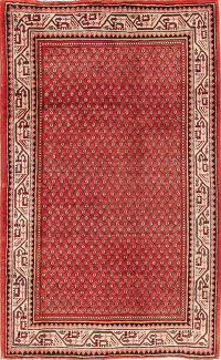 Red Geometric Botemir Persian Area Rug 4x7